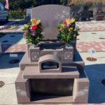 淡いピンクが素敵なお墓がファミリーテラスに完成しました!