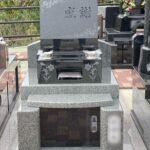 薔薇の花と「感謝」の文字が絶妙なバランスの素敵なお墓が完成しました!